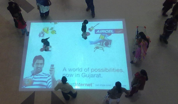 Aircel Interactive Floor Projection Campaign