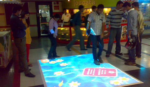 Esquare Interactive floor projection system