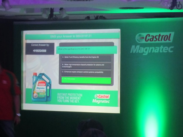 Castrol used MagixFone Enabled Interactive Live Quiz