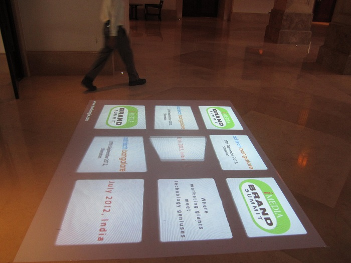 TouchMagix Interactive Floor at iMedia Summit