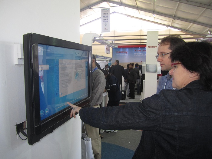 MultiTouch Displays at GE Conference