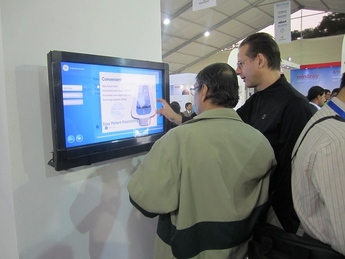 TouchMagix MagixKiosk displays GE Healthcare