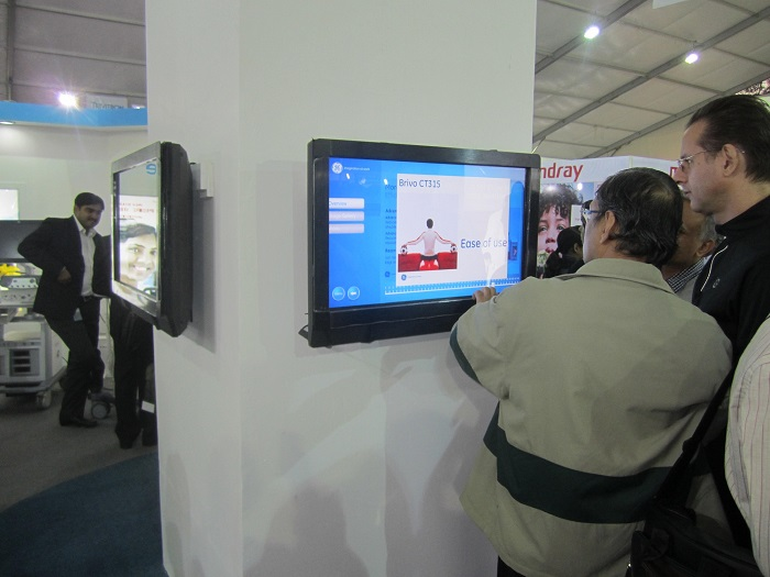 TouchMagix MagixKiosk engaging users at GE Healthcare Conference