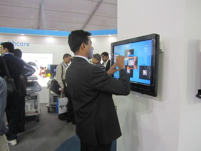 TouchMagix MultiTouch Displays at GE Healthcare Conference