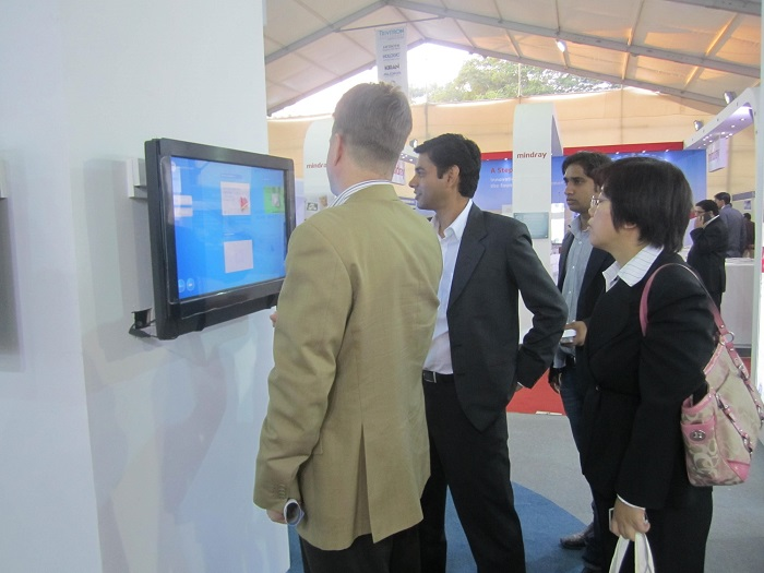 Visitors engaged with MagixKiosk