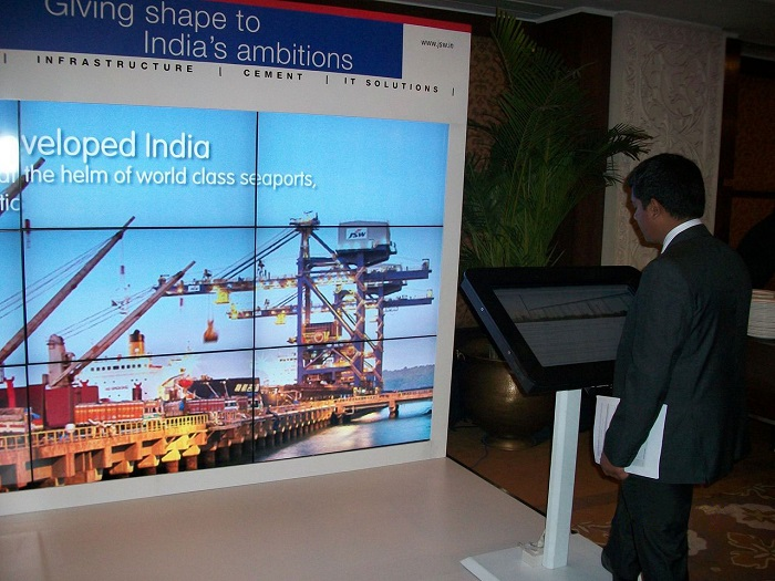 JSW Booth with Multi-touch MagixKiosk