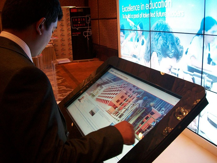 Multi-touch MagixKiosk at JSW Booth