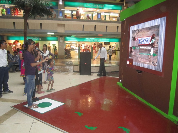 Snickers Brand Activation using TouchMagix Interactive Wall