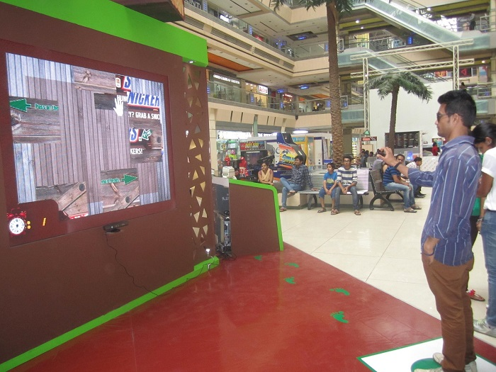 TouchMagix Interactive Wall at Snickers Brand Activation