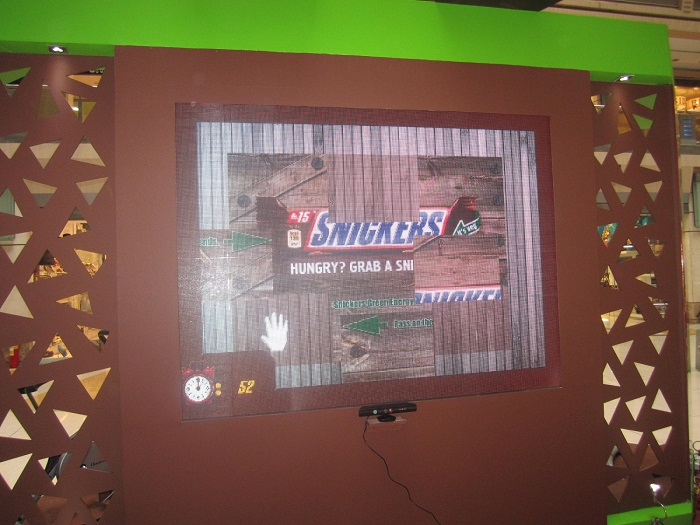 TouchMagix Interactive Wall for Snickers