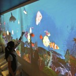 Interactive Wall Seen as Virtual Aquarium