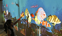 Larger Than Life Virtual Aquarium at Oceans Café Lounge