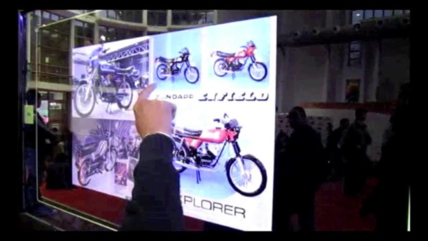 65″ Multi-touch Experience at the Auto Expo with Royal Enfield