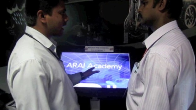 ARAI using Interactive Floor at International Symposium
