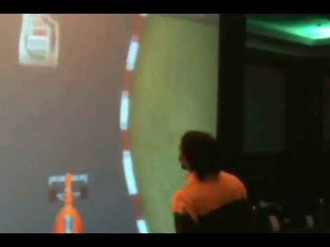 Castrol Launch: Interactive floor and wall projection system