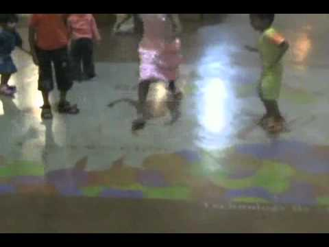 Ishanya Mall: Interactive Floor and Wall Projection System
