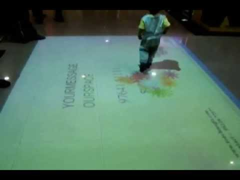 Mariplex Mall, Pune, India: Interactive floor projection system installation