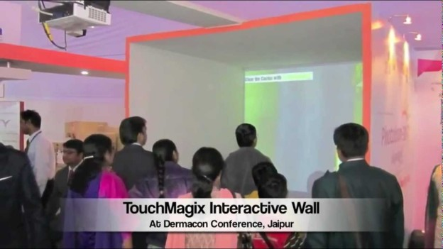 MotionMagix Interactive Wall at Dermacon