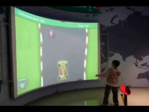 Technology Museum, Europe: Interactive Wall Projection System