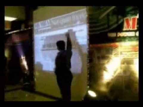 Times Of India Group: Interactive wall projection system installation by TouchMagix