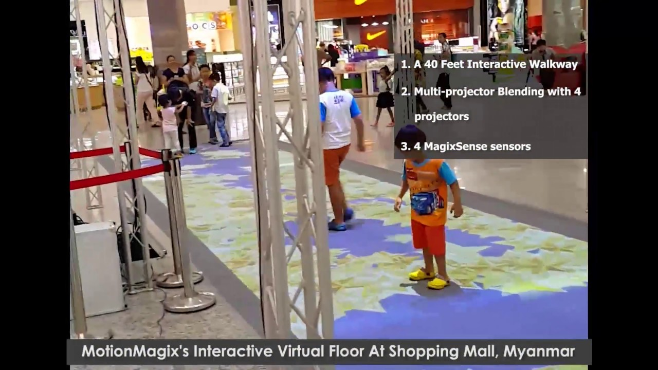 MotionMagix's Interactive Floor at Shopping Mall, Myanmar